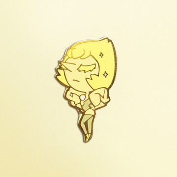 SU YELLOW PEARL ENAMEL PIN