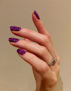 Nail Wraps | Purple Shatter