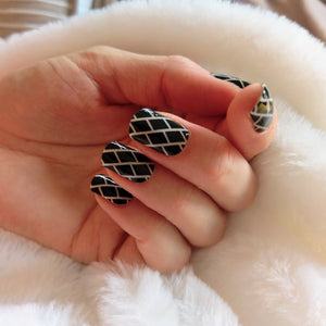 Nail Wraps | Brick Monochrome