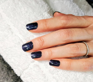 Nail Wraps | Deep Blue Glitter
