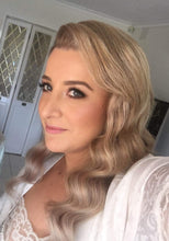 Image of bride wearing LUSHIERE clip in hair extensions in blonde colour #16 dirty blonde