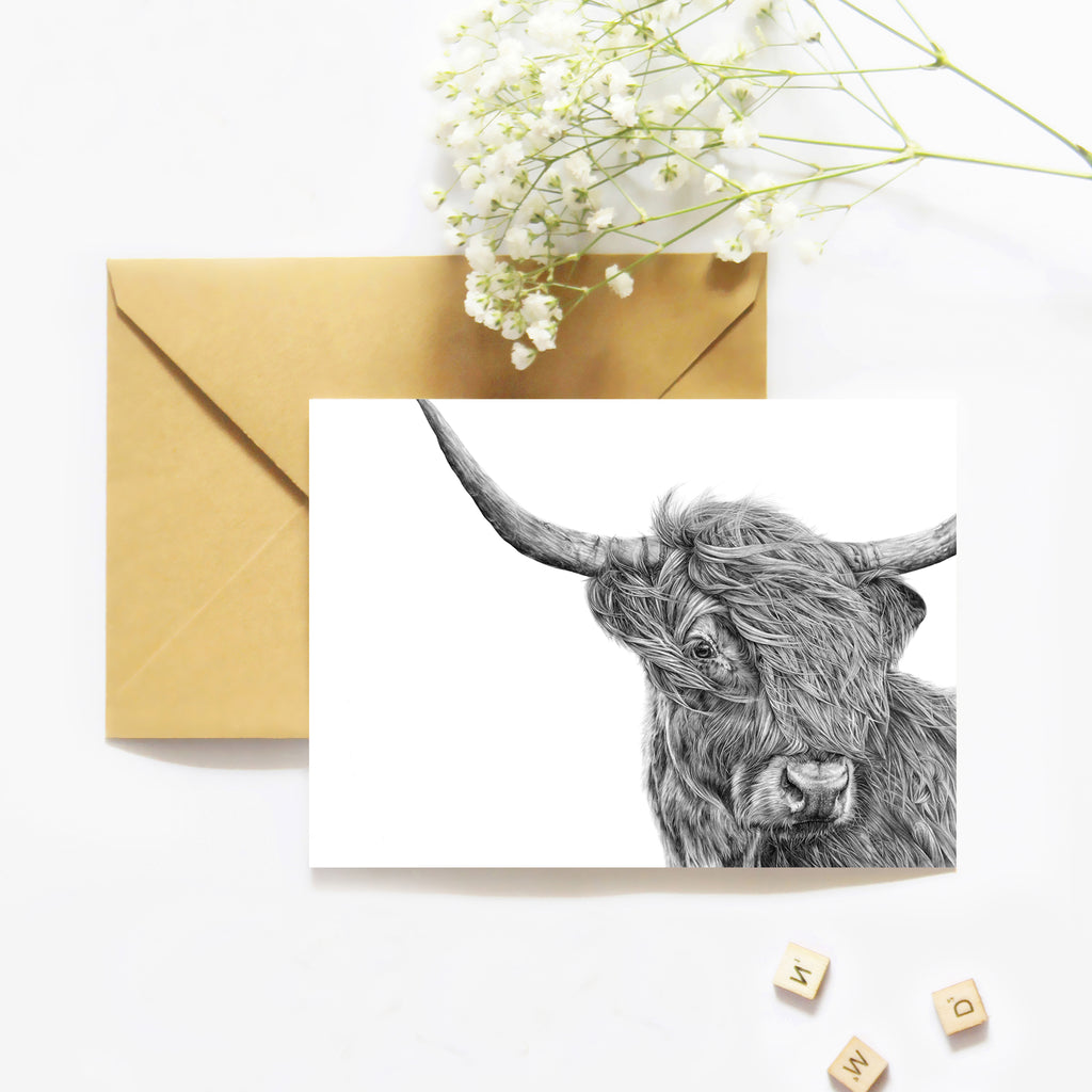 Harry the Highland Cow - Greeting Card