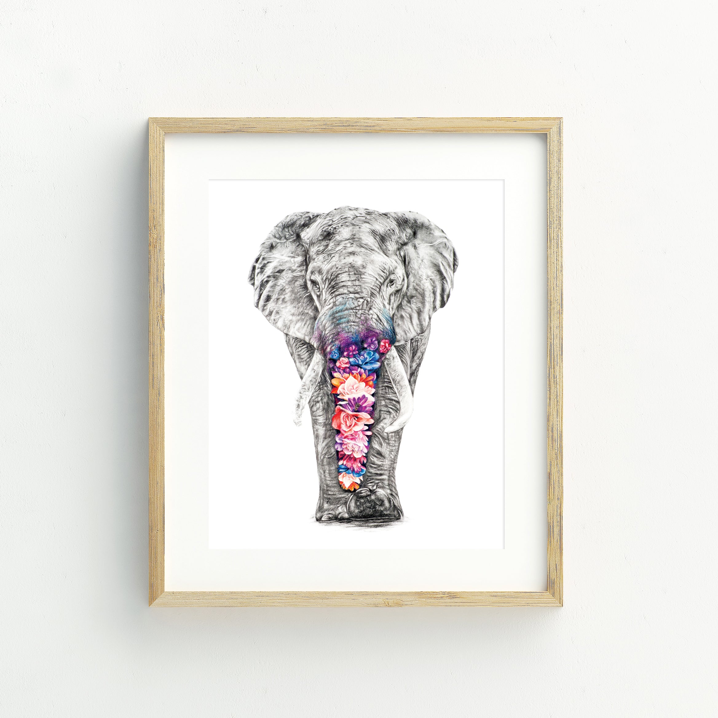 Effy the Elephant - Medium Print