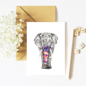 Effy the Elephant - Greeting Card