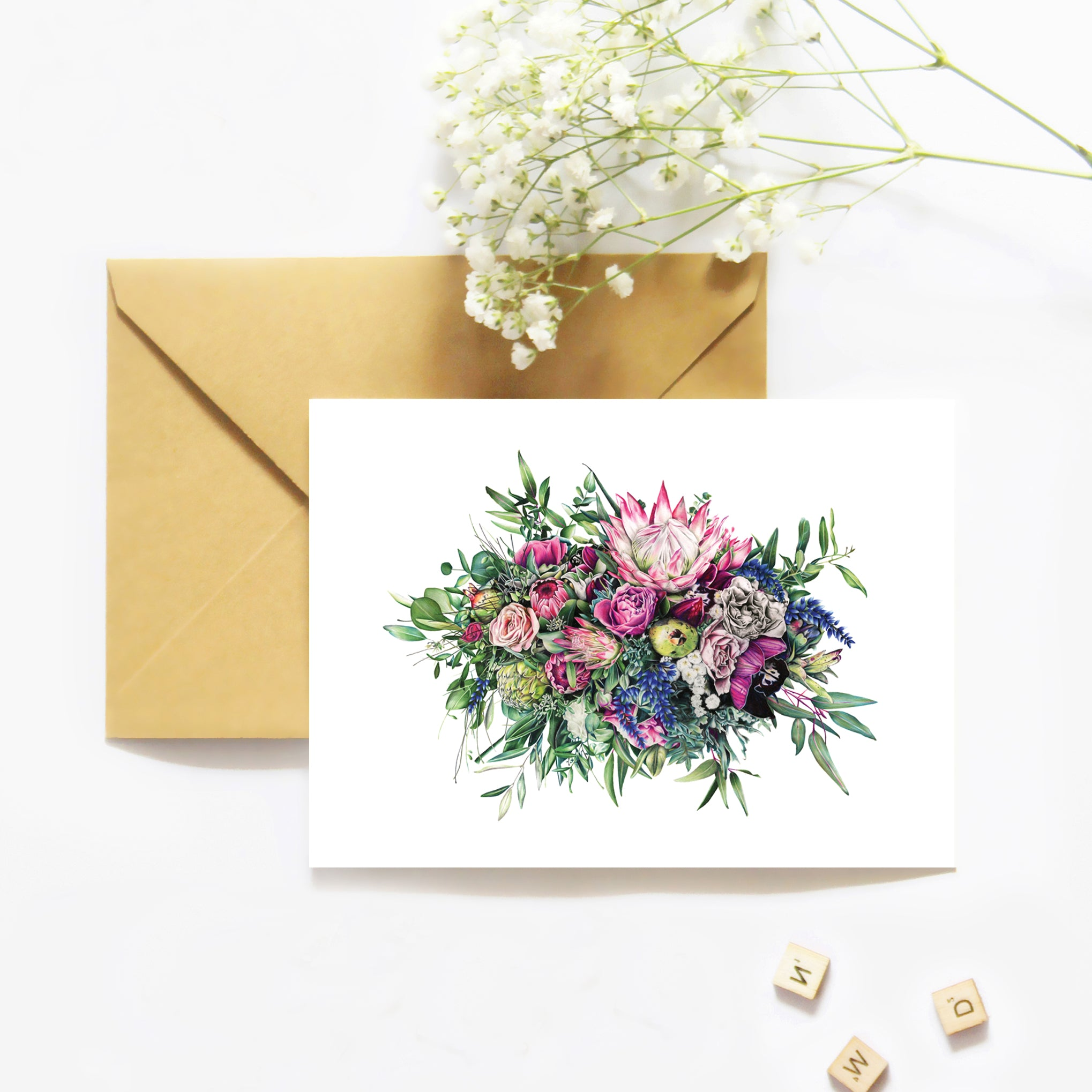 Floral Release - Greeting Card