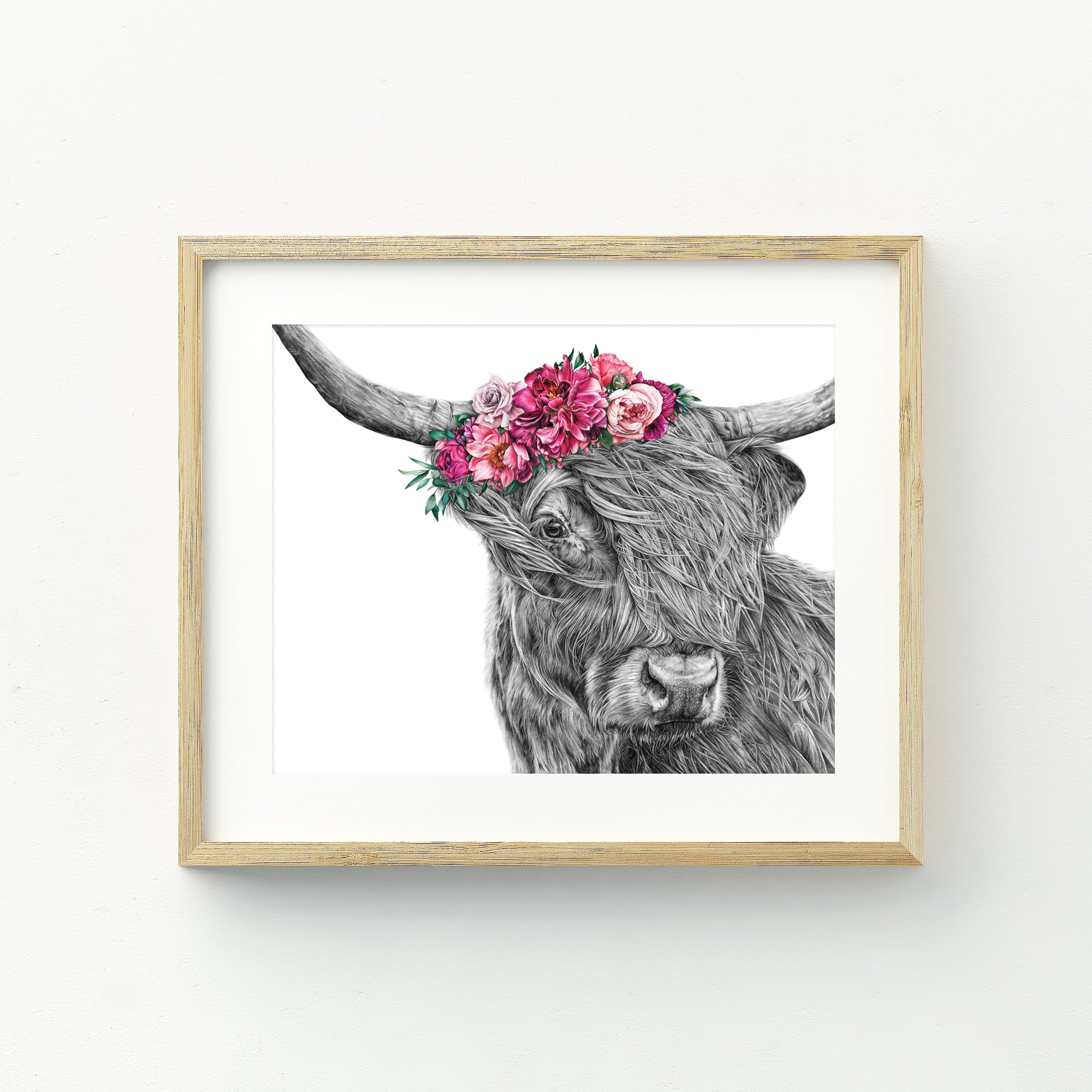 Heidi the Highland Cow - Medium Print