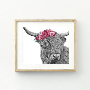 Heidi the Highland Cow Print