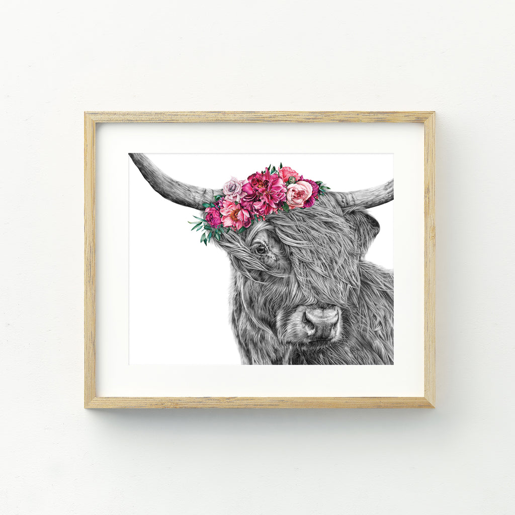 Heidi the Highland Cow - A4 Print
