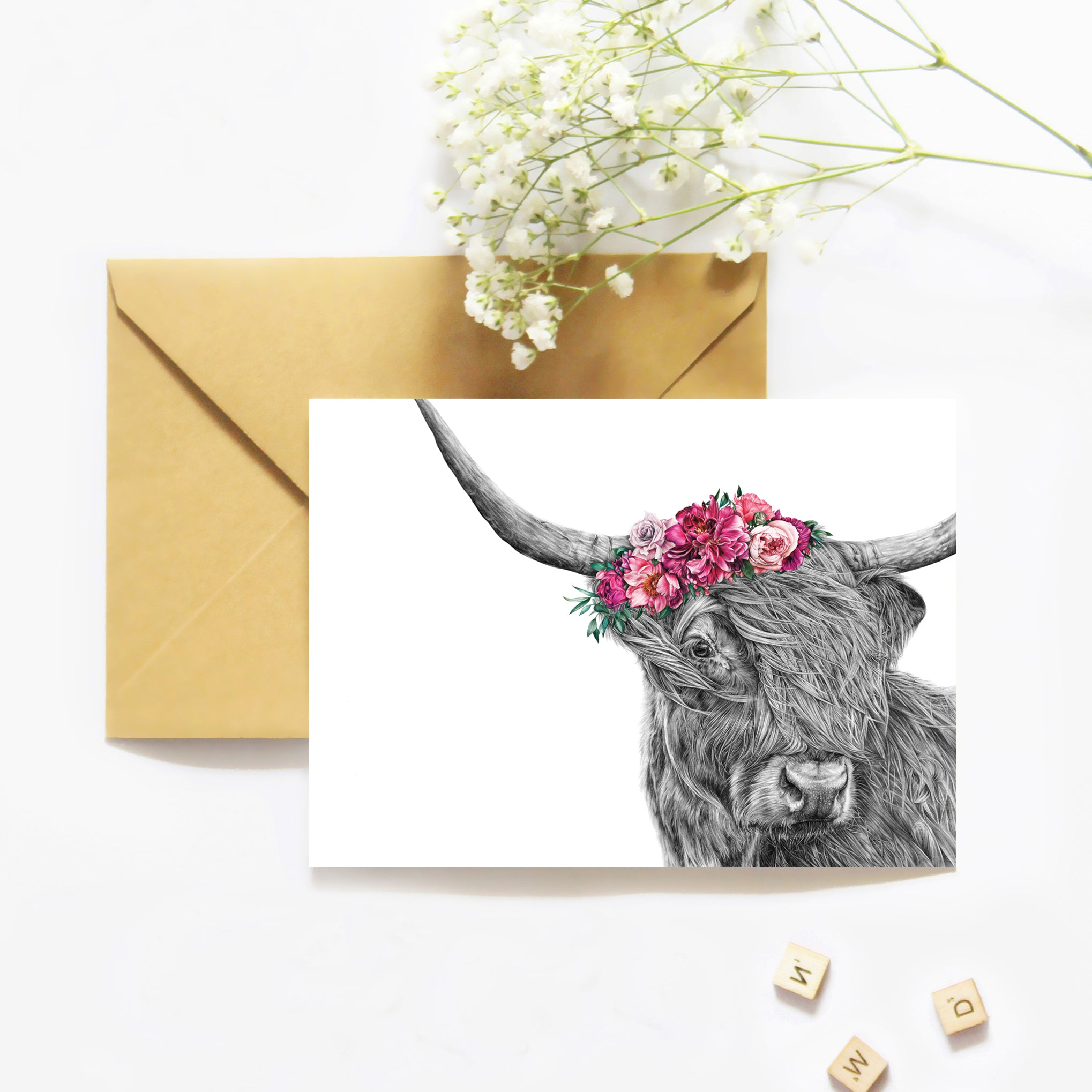 Heidi the Highland Cow - Greeting Card