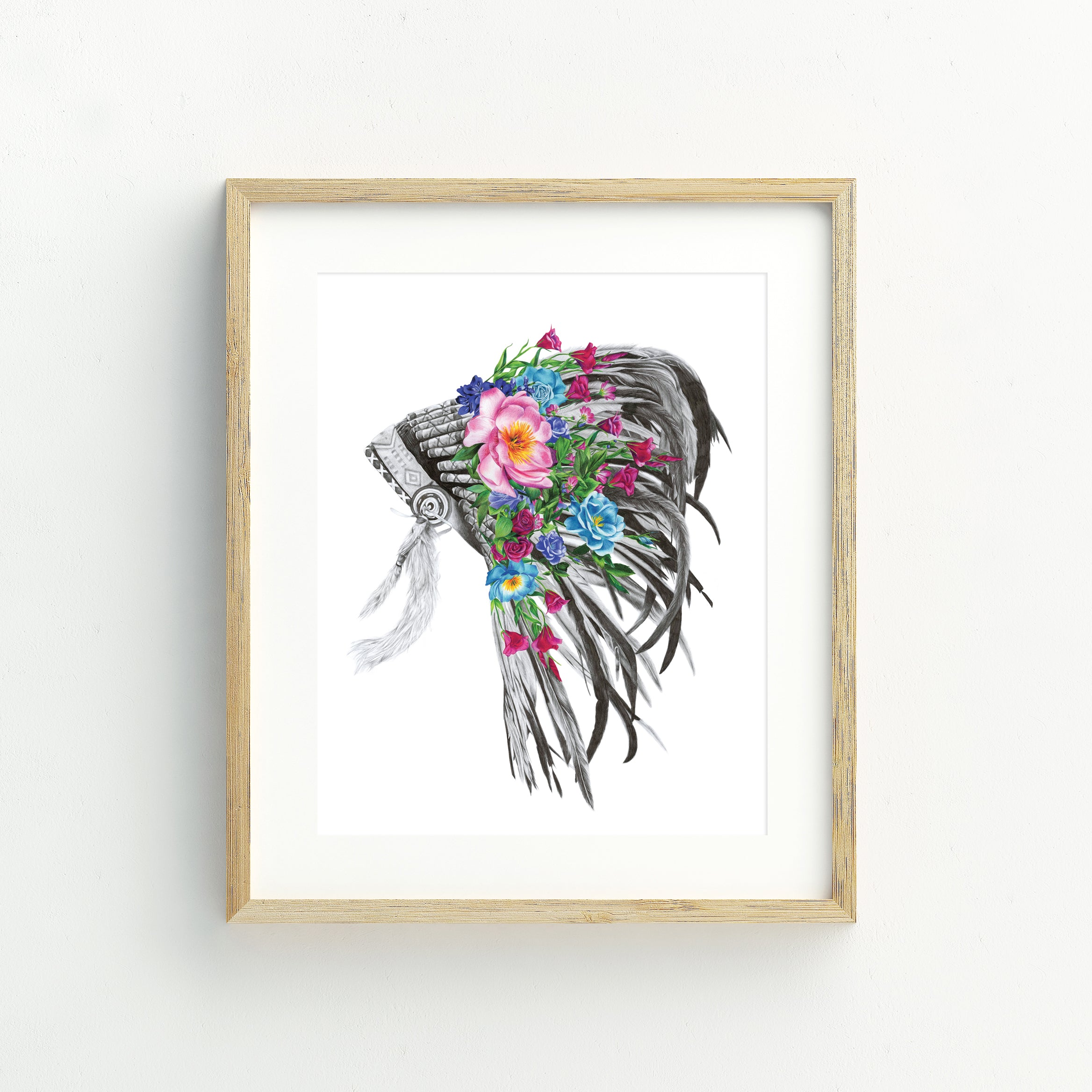 Indian Headdress - A5 Print