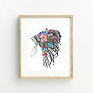 Indian Headdress - Medium Print
