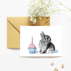 Charli and the Cupcake - Greeting Card