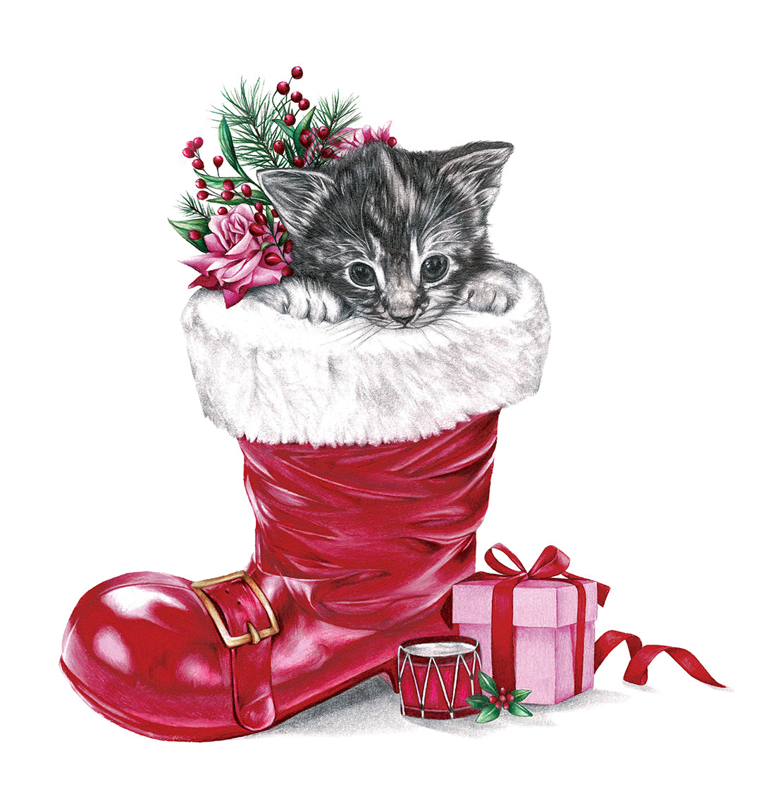 Santa's Little Helper - Greeting Card