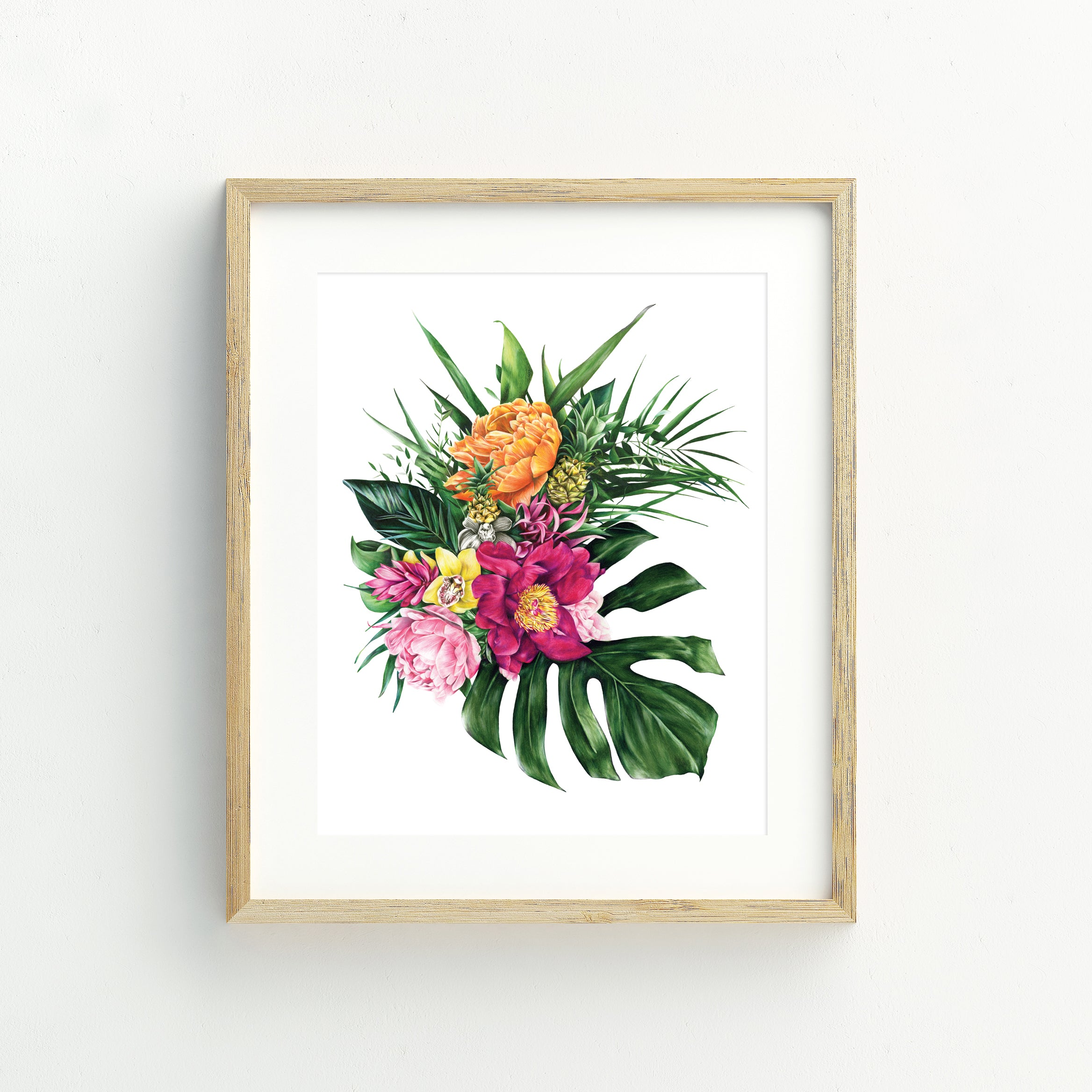 Tropical Florals - A5 Print