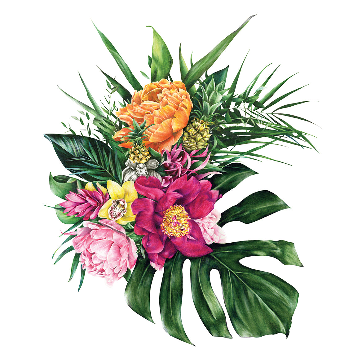 Tropical Florals - Extra Large Print
