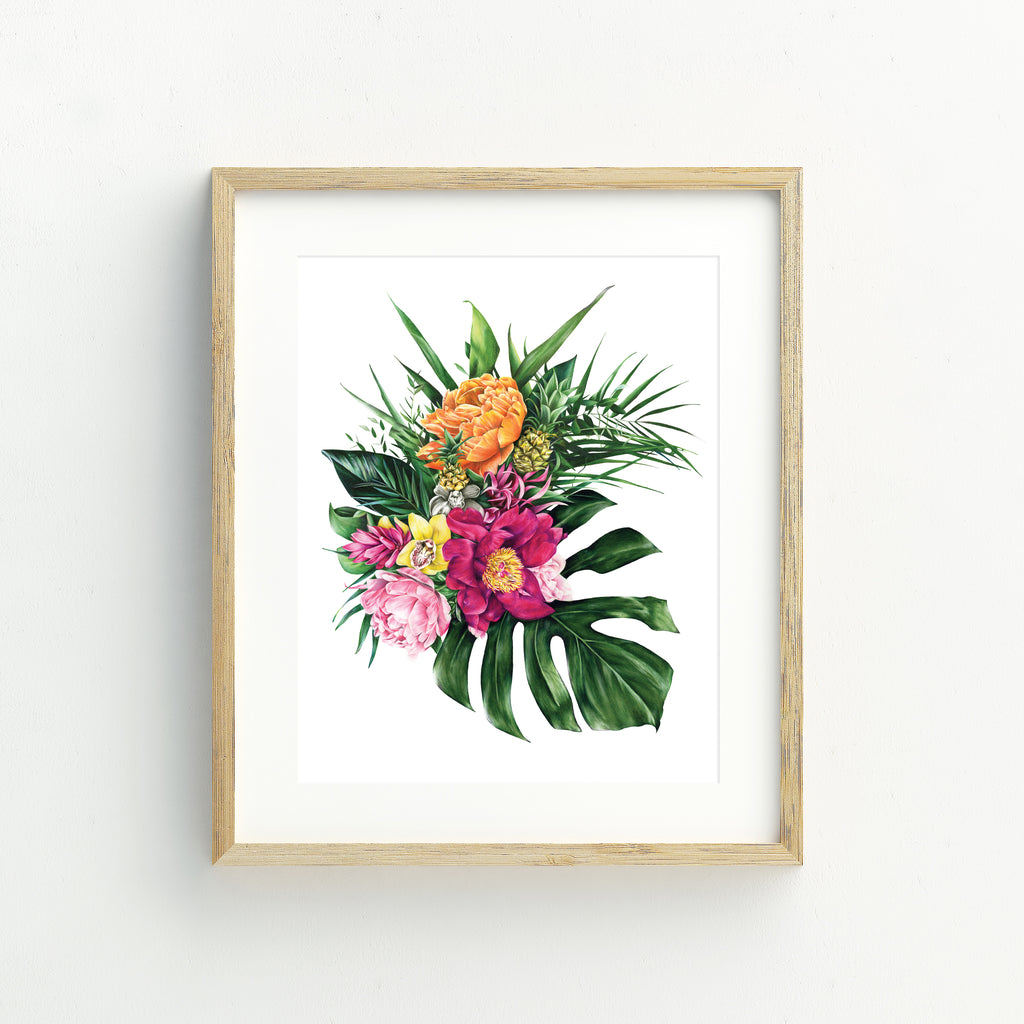 Tropical Florals - A4 Print