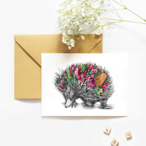 Eddie the Echidna - Greeting Card