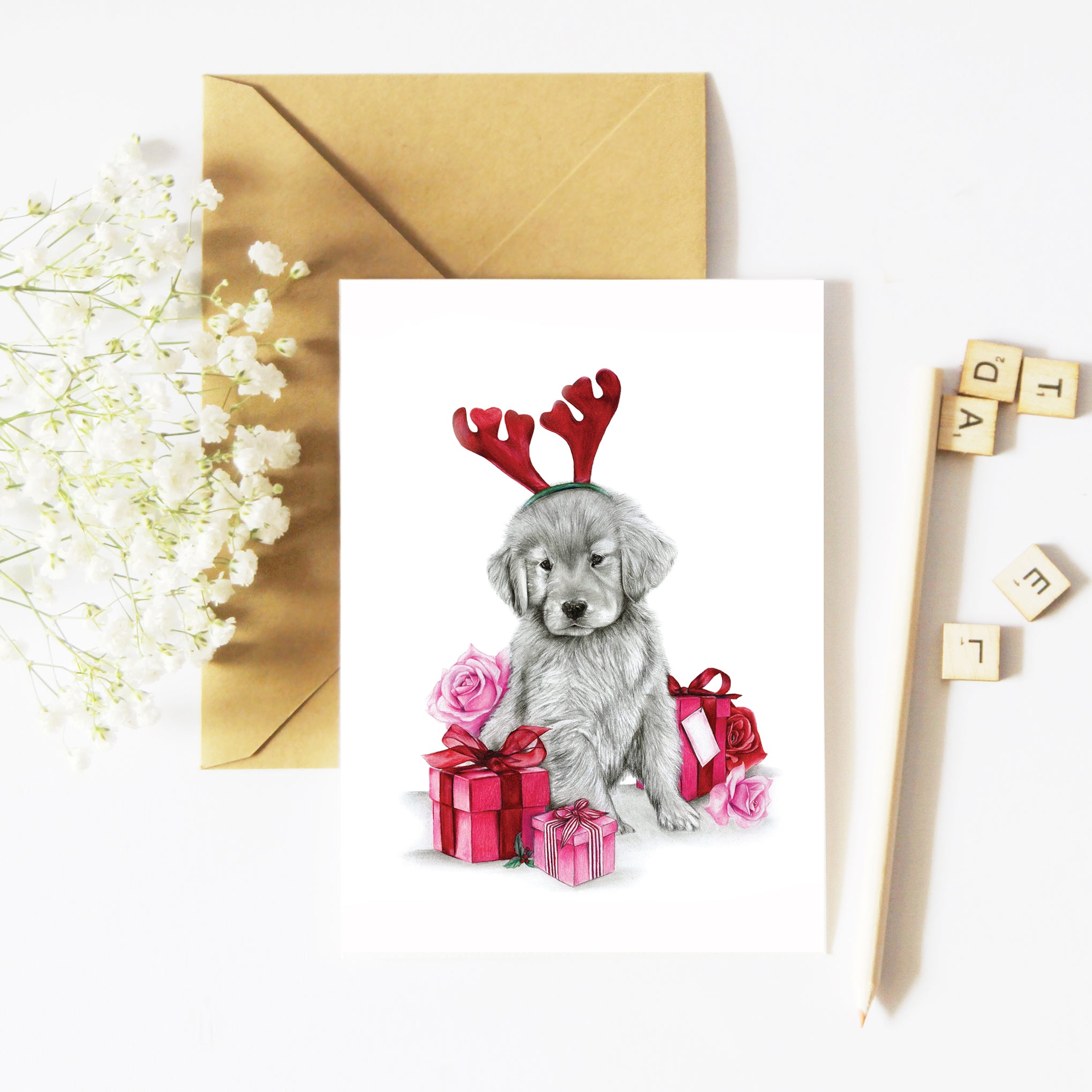 Russell the Reindeer - Greeting Card