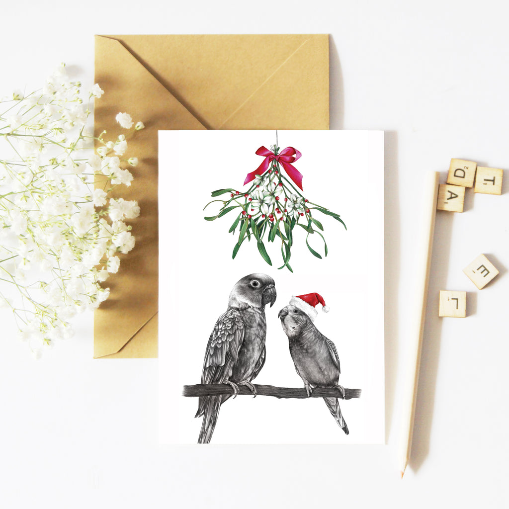 Under the Mistletoe - Greeting Card