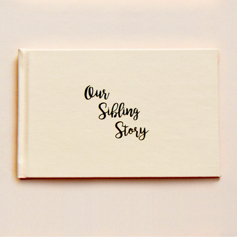 Our Sibling Story - Sibling Memory Book by Keeping Up With The Baby - momsoon maternity fashion wear
