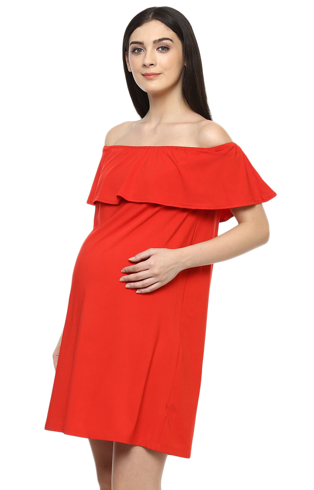 Off Shoulder Dress - momsoon maternity fashion wear