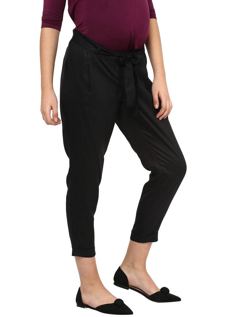 Solid Black Pant - MomSoon Maternity and Nursing Wear