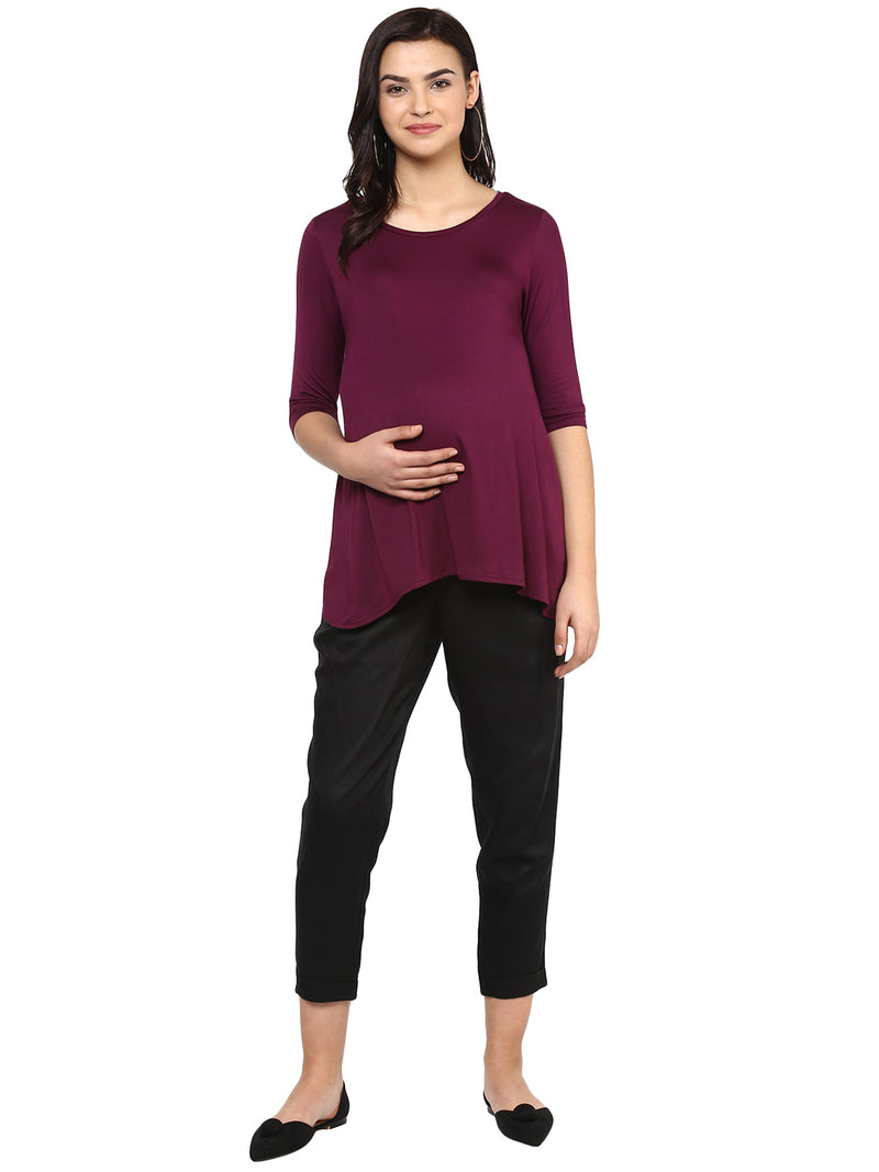 Solid Black Pant - momsoon maternity fashion wear