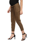 Solid Khaki Green Pant - momsoon maternity fashion wear