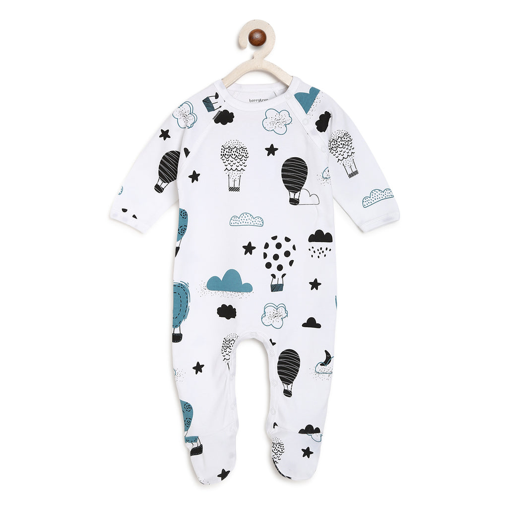 Berrytree Organic Cotton Romper Hot Balloons