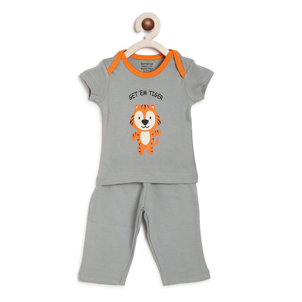 Berrytree Organic Cotton Night Suit Tiger
