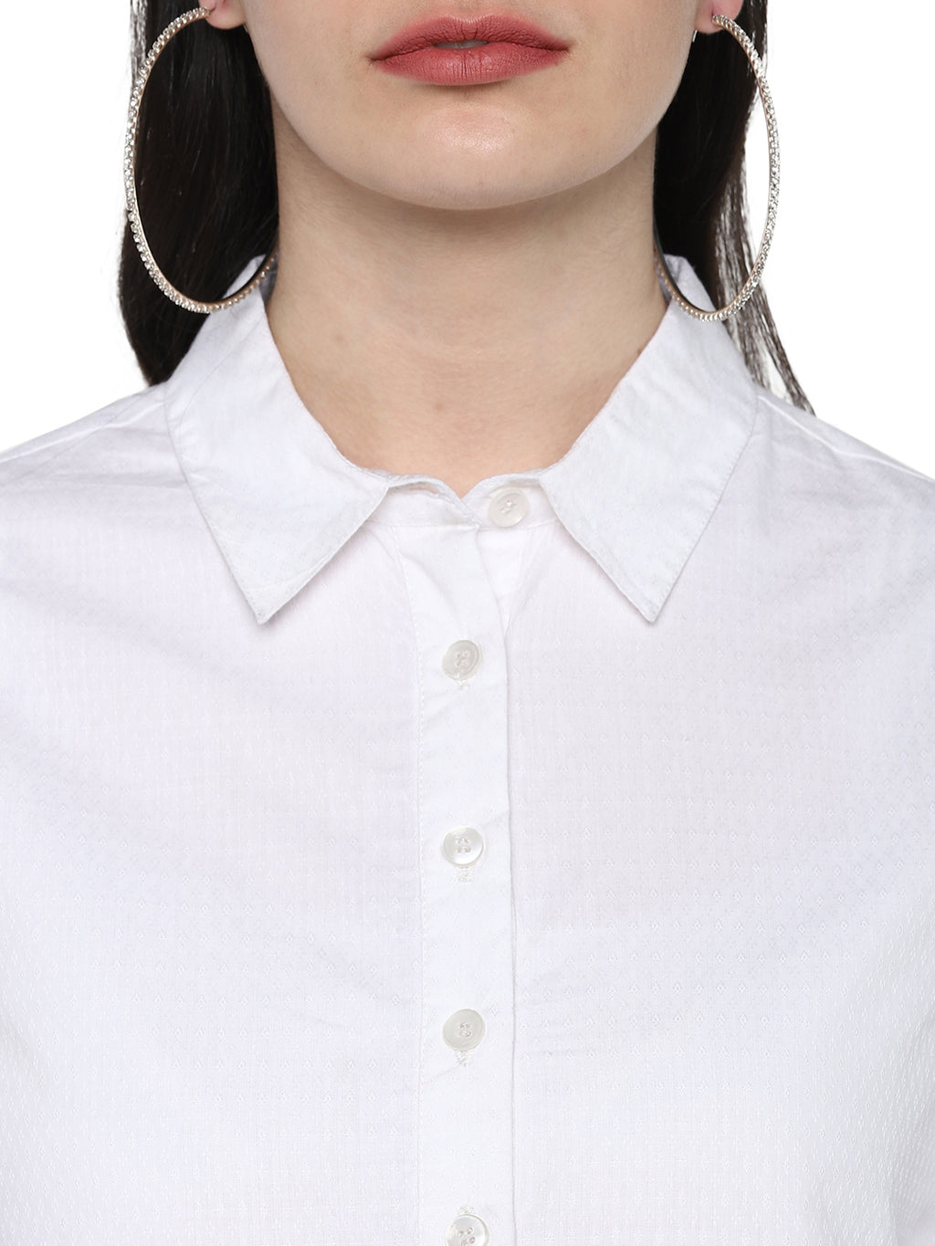White Dobby  Nursing top with front tie up - momsoon maternity fashion wear