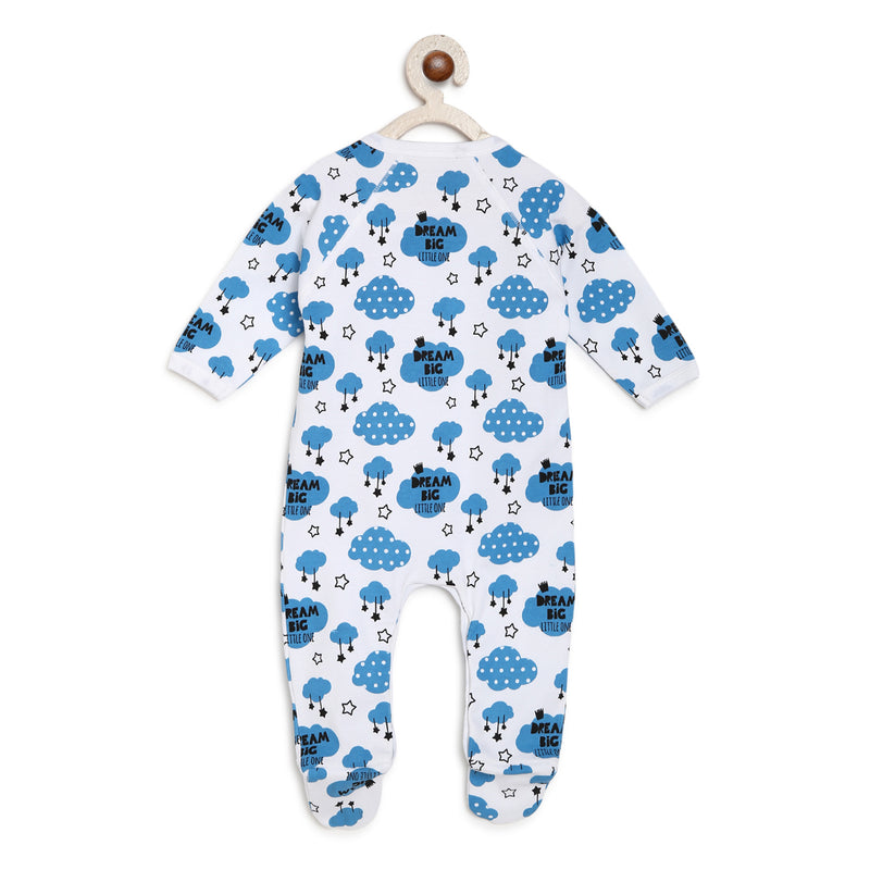 Berrytree Organic Cotton Romper Blue Clouds