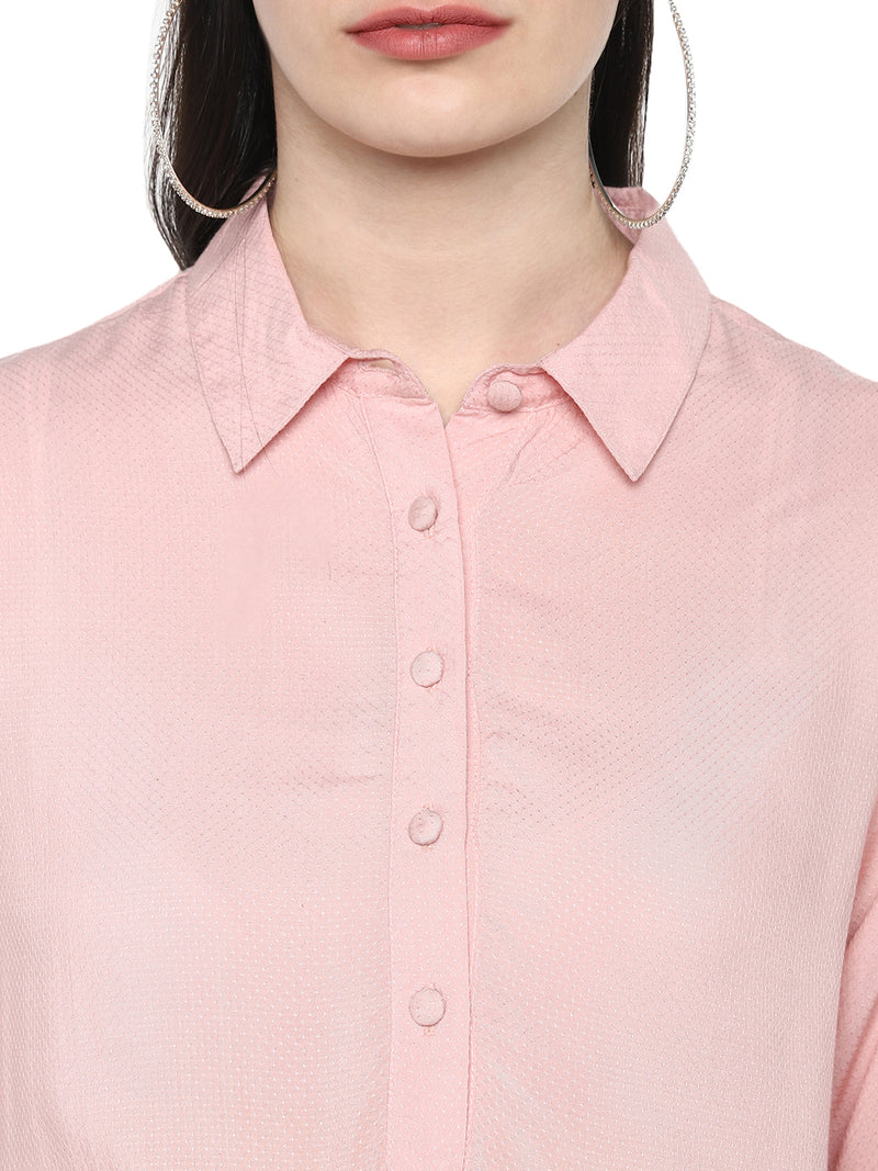 Blush Nursing top with front tie up - momsoon maternity fashion wear