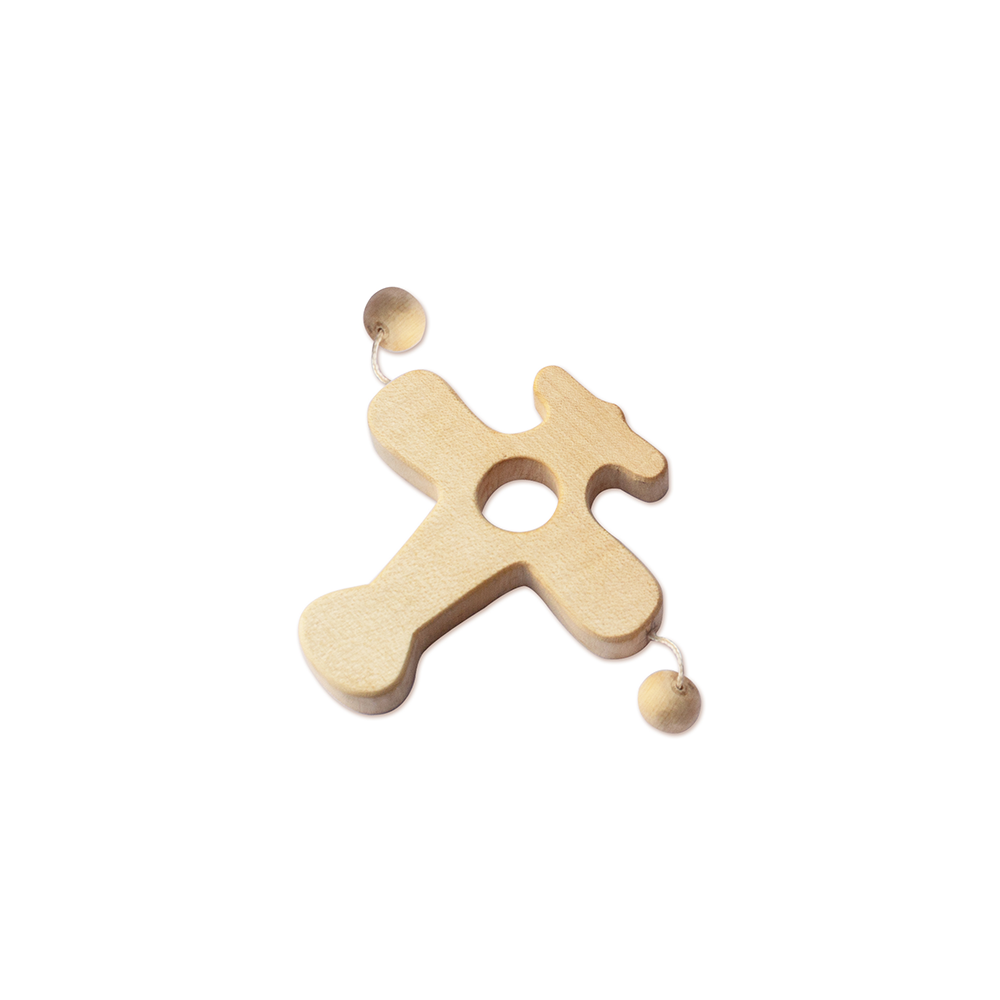 LILTOOTHSY MAPLE WOOD AEROPLANE TEETHER TOY