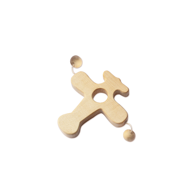 LILTOOTHSY MAPLE WOOD AEROPLANE TEETHER TOY - momsoon maternity fashion wear