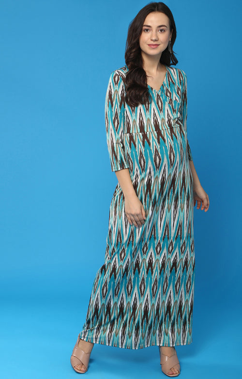 Momsoon Maternity V-Neck Maxi Dress - momsoon maternity fashion wear