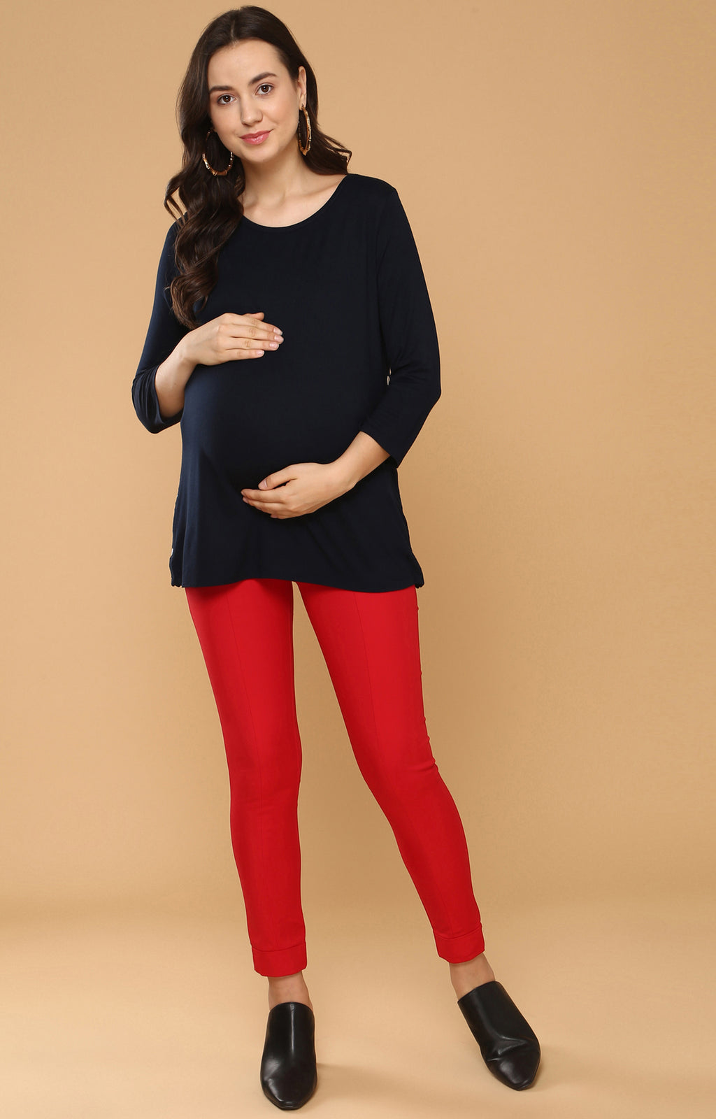 Side Snap Nursing Top - momsoon maternity fashion wear