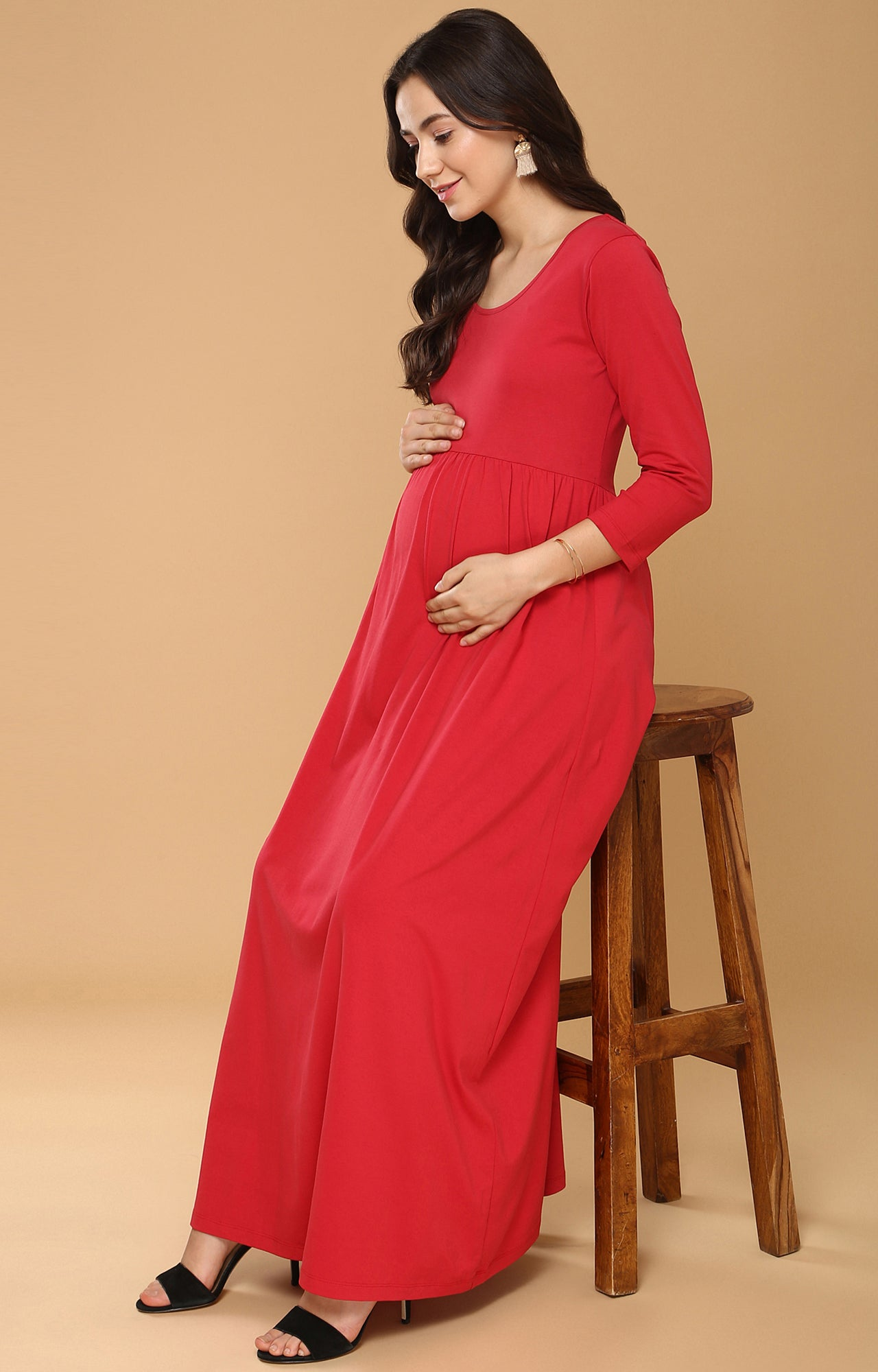 Momsoon Maternity Maxi Dress - momsoon maternity fashion wear