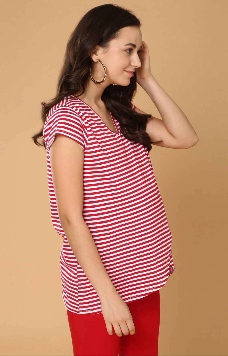 Overlapping Front Nursing Top - momsoon maternity fashion wear