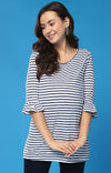 Short Sleeve Flare Detail Top - momsoon maternity fashion wear
