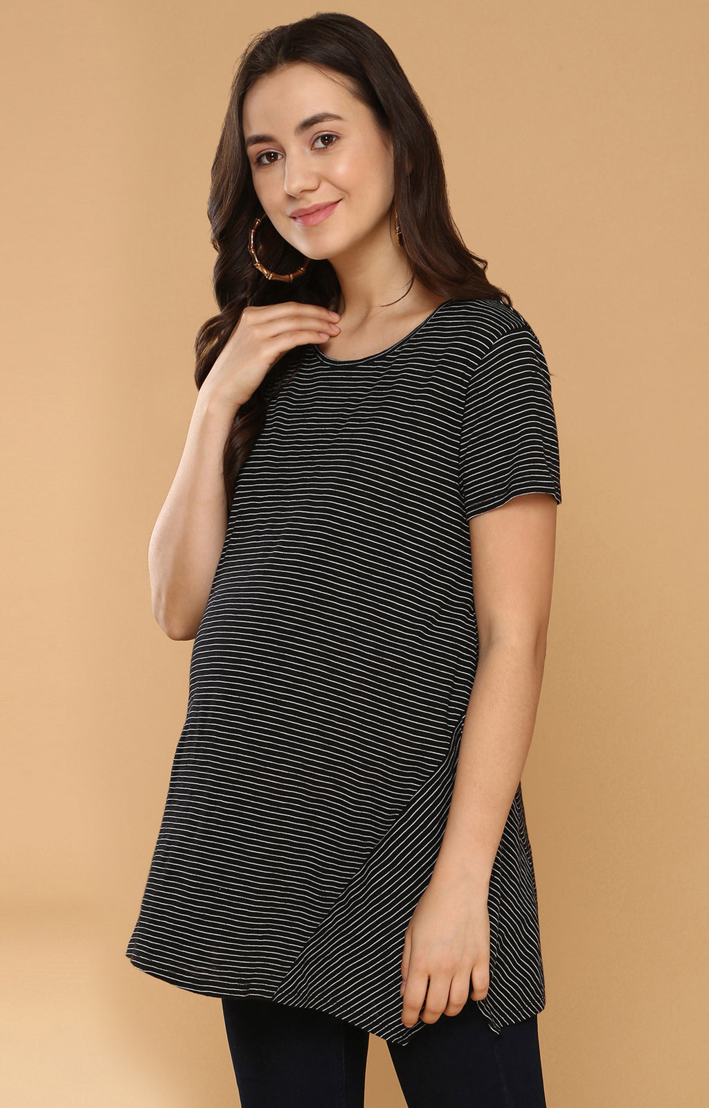 Stripe Play Top - momsoon maternity fashion wear