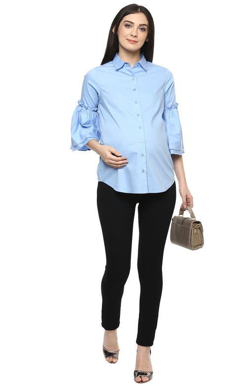 MOMSOON MATERNITY BELL SLEEVE SHIRT - momsoon maternity fashion wear