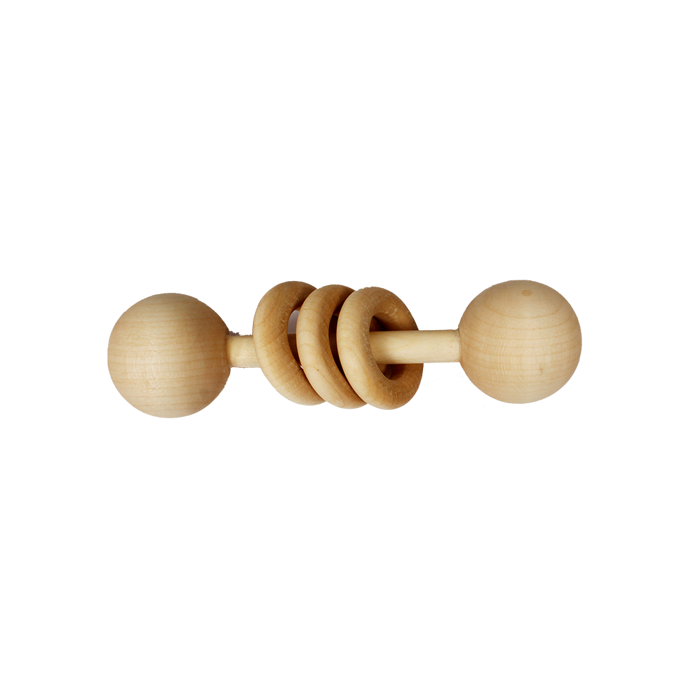 LILTOOTHSY MAPLE WOOD DUMBELL TOY - momsoon maternity fashion wear