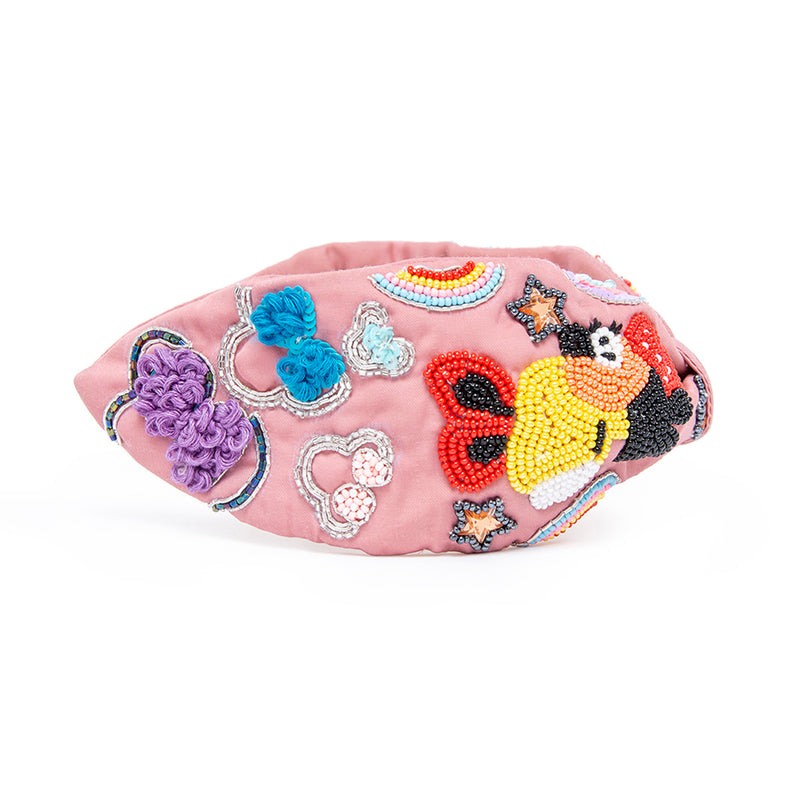 Hair Drama Company Multicolor Color Me Minnie Headband Pink