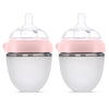 Rabitat Squeezy Silicone Feeding Bottle (150ml Double Bottle, Pink) - momsoon maternity fashion wear