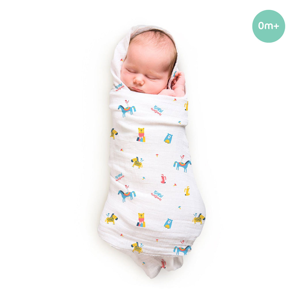 Rabitat Bamboo Swaddle Pamper Soft Born Awesome