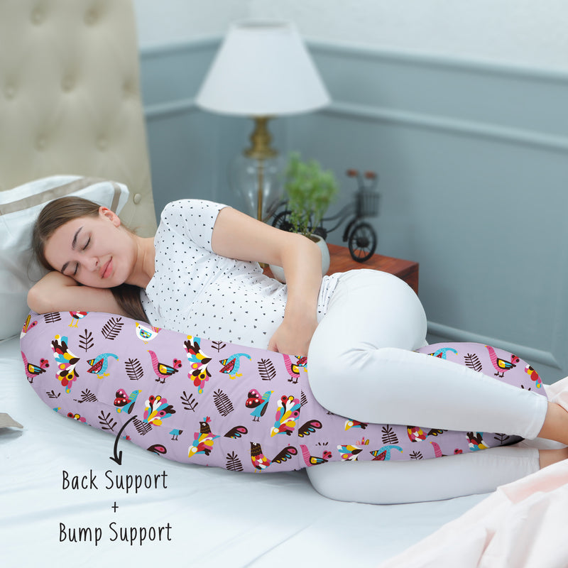 Rabitat Duo Motherhood Multi Function Pillow, Pregnancy Pillow+Feeding Pillow - Magnolia - momsoon maternity fashion wear