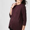 Front Overlapping Maternity Cum Nursing Top - momsoon maternity fashion wear