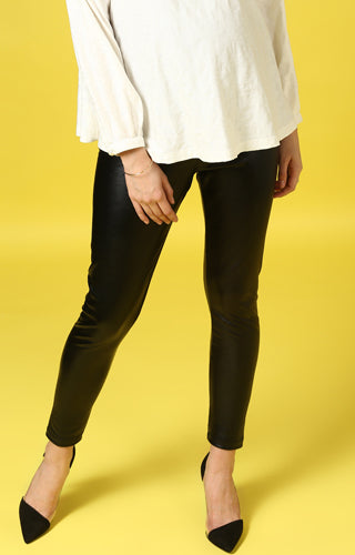 Momsoon Maternity Leatherette Leggings - momsoon maternity fashion wear