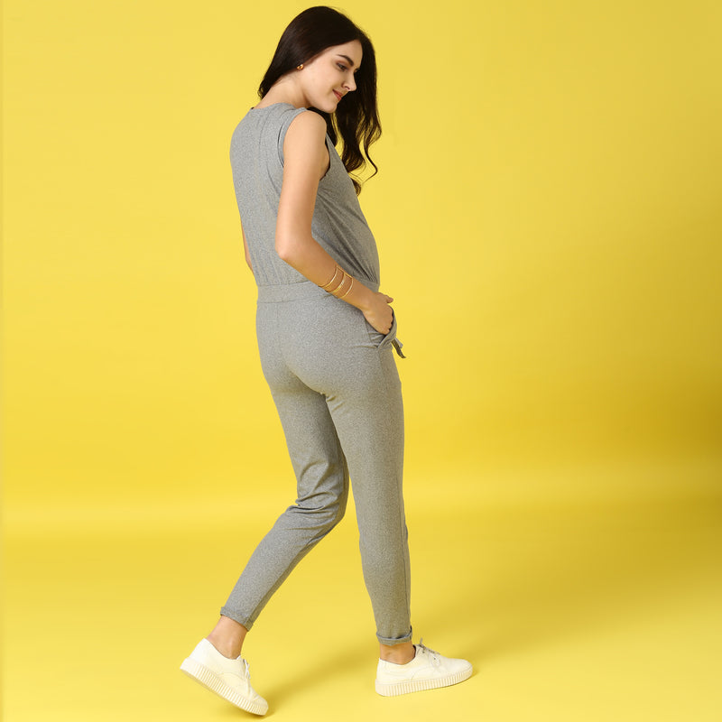 Drawstring Jumpsuit - momsoon maternity fashion wear